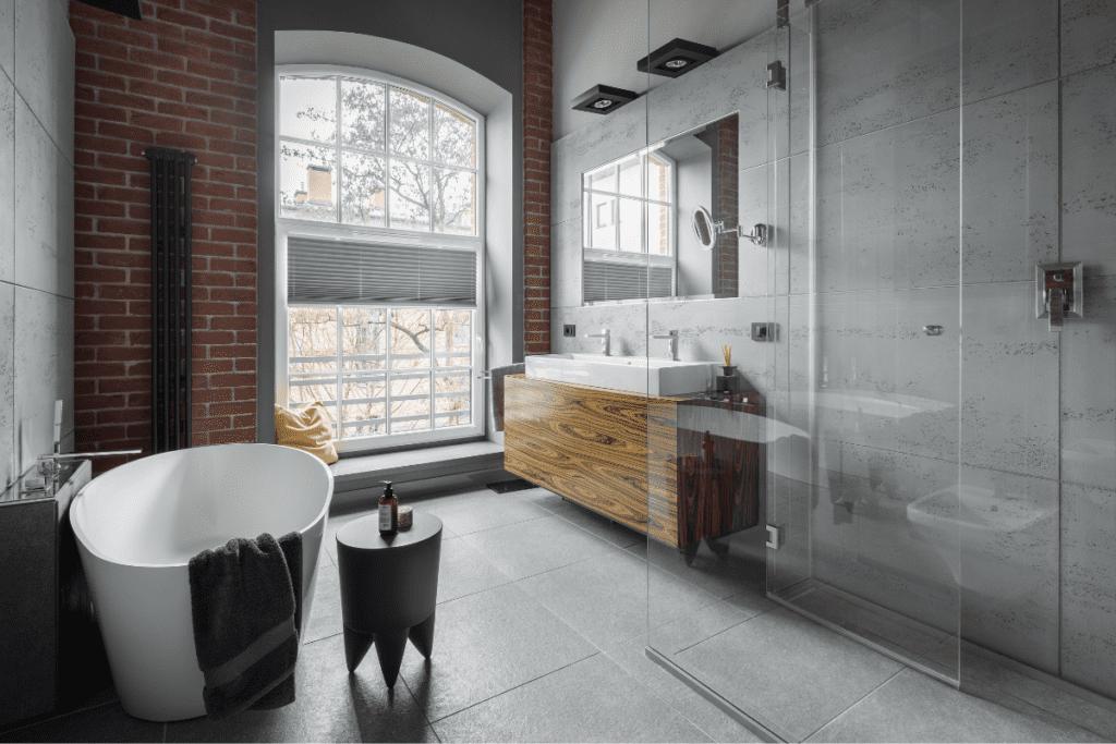 Styl industrialny - łazienka