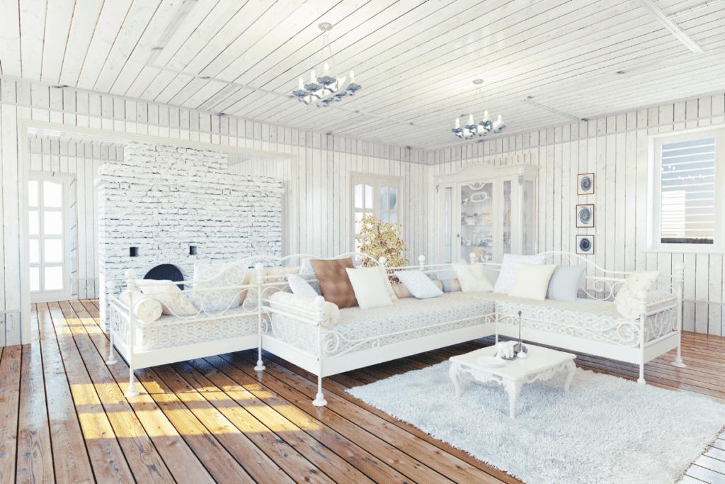 Styl prowansalski - pokój gościnny