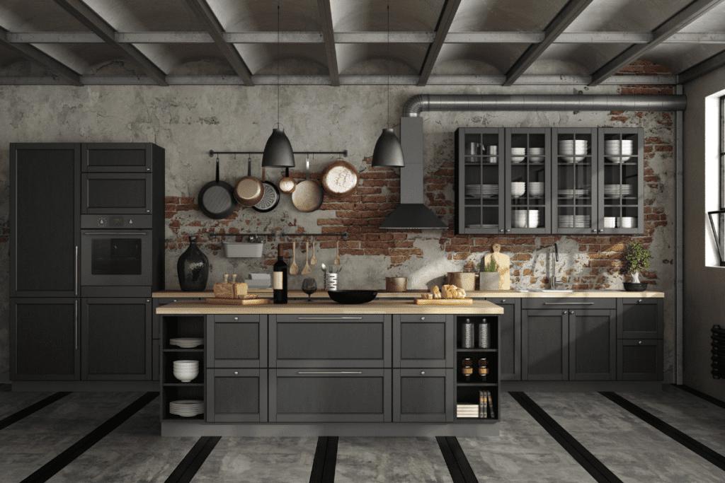 Projekt kuchni (styl industrialny)