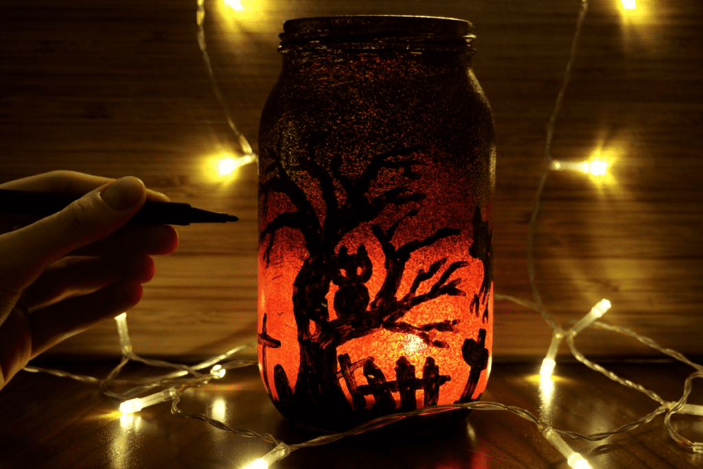 lampion ze słoika