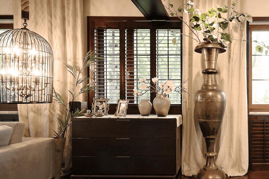 Eleganckie wnętrze palisandrowe