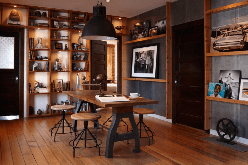Salon w kolorze drewna