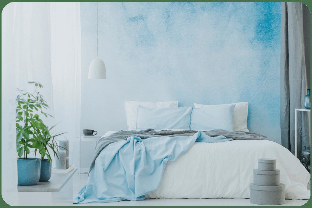 baby blue w sypialni