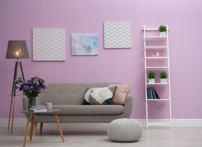 kolor liliowy wnętrza