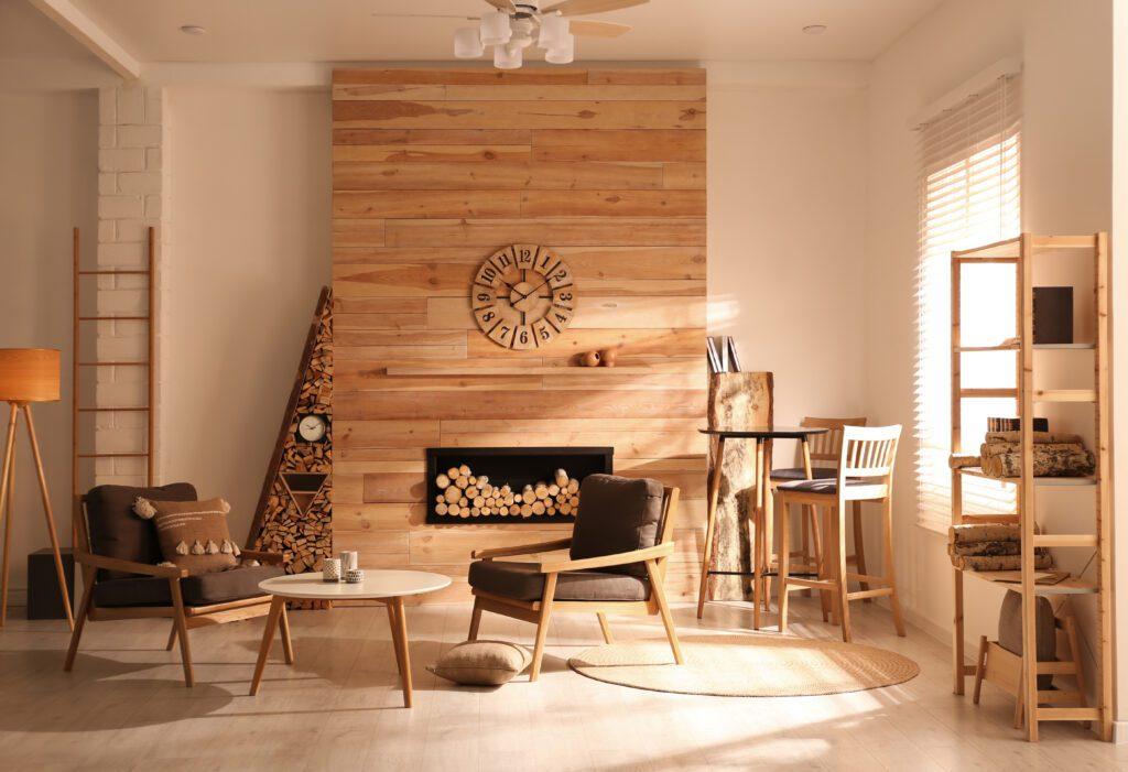 kolor drewna salon