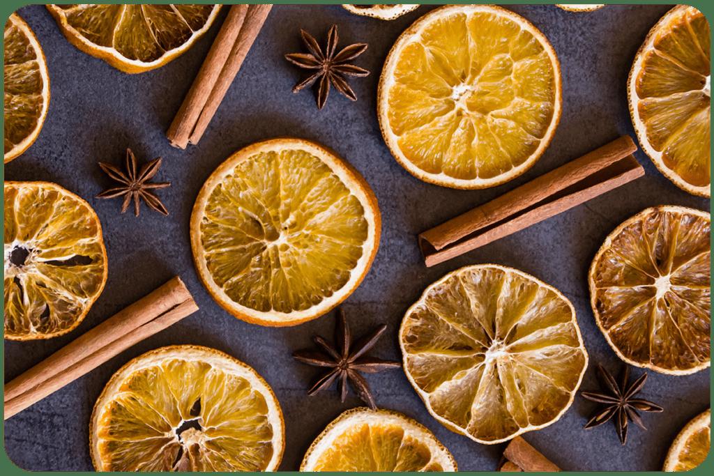 suszone pomarańcze na choinkę
