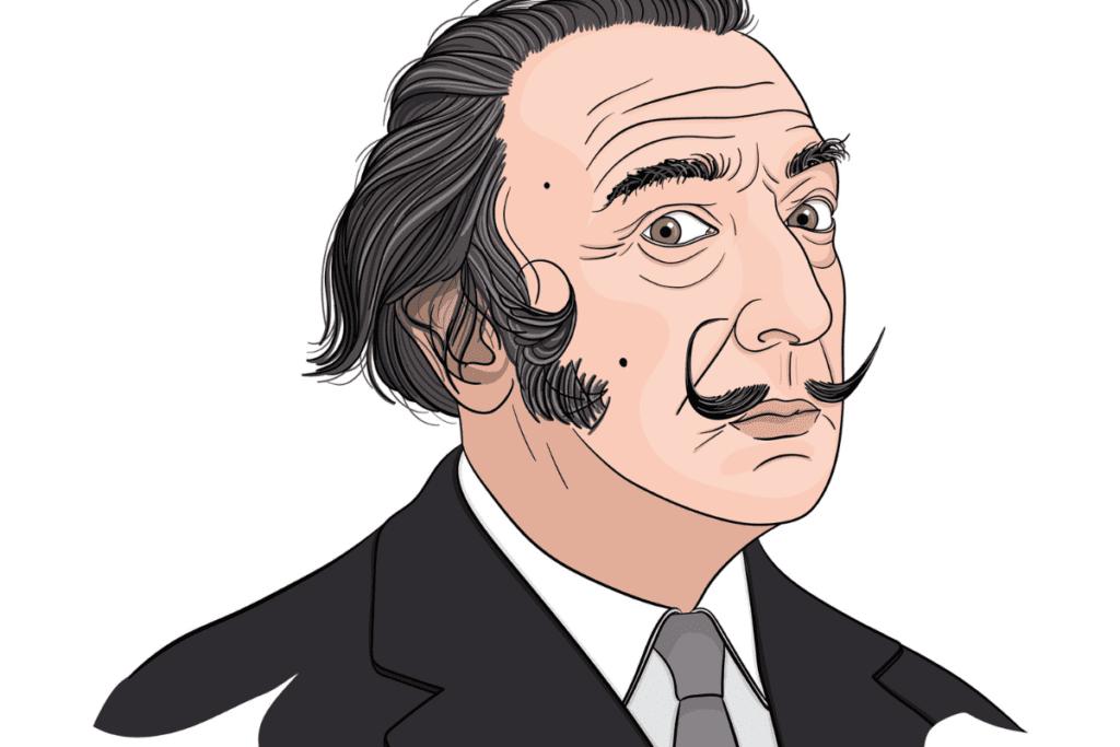 Portret Salvadora Dali