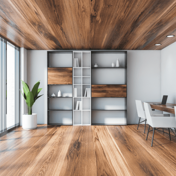 drewniany sufit