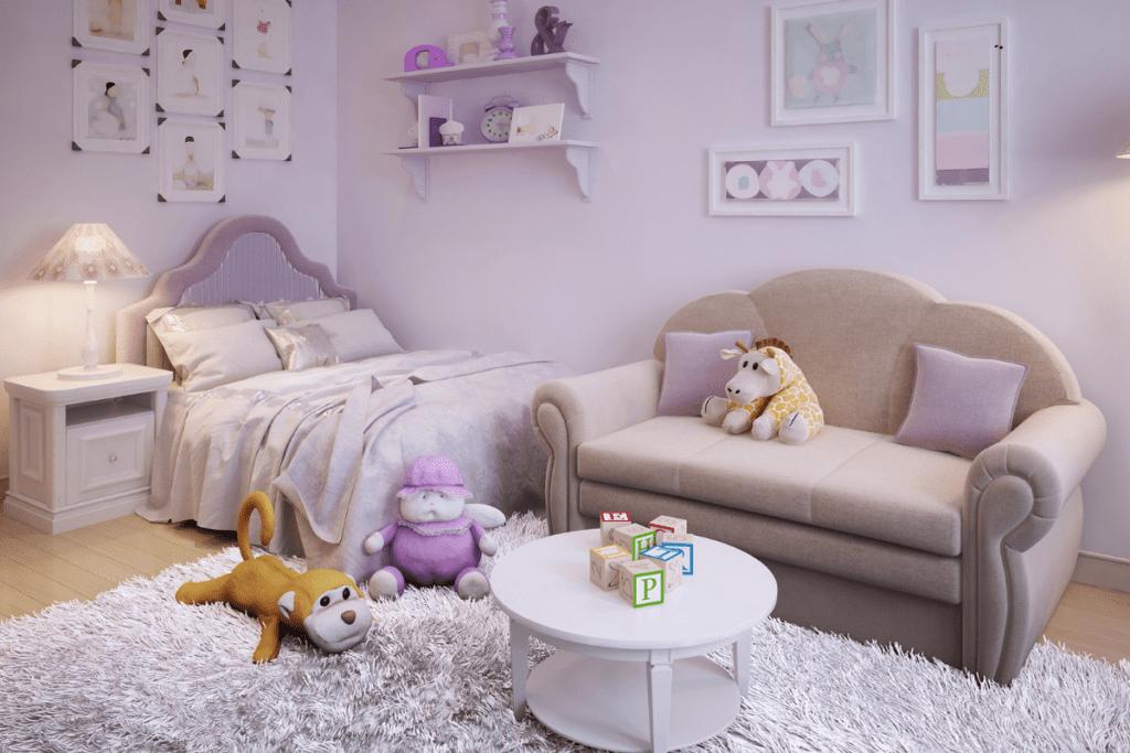 Lawendowy pokój dziecka
